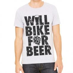 Will Bike for Beer Athletic Tee