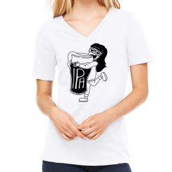 IPA Girl Missy Womens V-Neck Graphic Tee