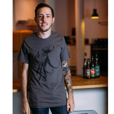 Beer Drinking Octopus Graphic Tee