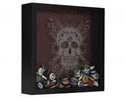 Sugar Skull Beer Cap Collection Shadow Box