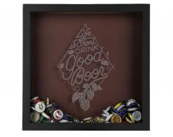 Life is Short Drink Good Beer Shadow Box