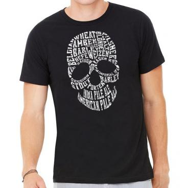 Craft Beer Skull Typography T-Shirt