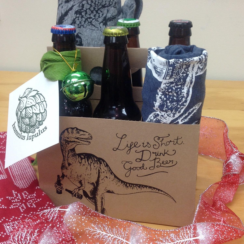 Dinosaur Gift Bag Six Pack Holder