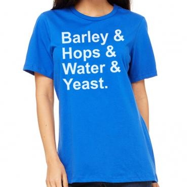 Barley & Hops & Water & Yeast Women's T-Shirt