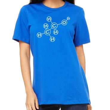 Alcohol Molecule Women's Crew Tee