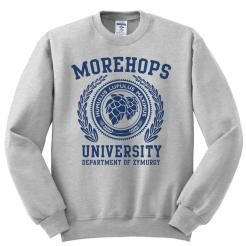 Morehops University Ash Grey Fleece Sweatshirt