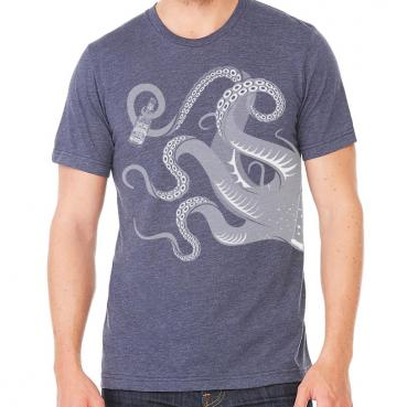 Beer Drinking Cthulu Tentacles Graphic Tee
