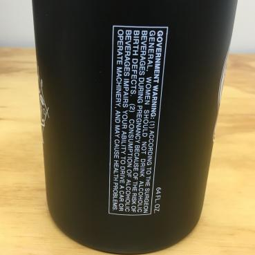 Warning Label Sugar Skull Stainless Steel Growler