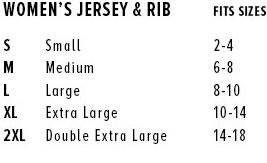 Tank Dress Size Chart