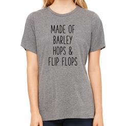 Made of Barley Hops & Flip Flops women's relaxed triblend tee
