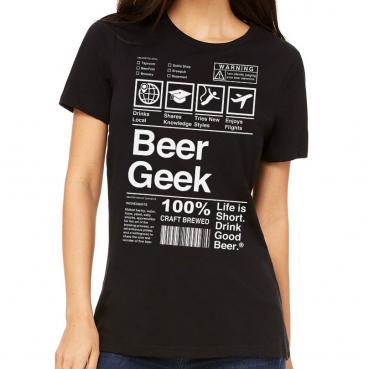 Beer Geek Label Womens Tee