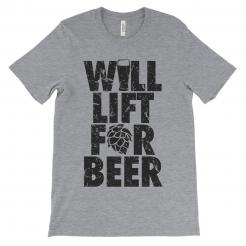 Will Lift for Beer Athletic Tee