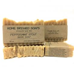 Peppermint Stout Beer Soap