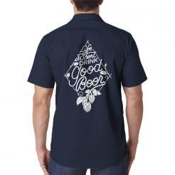 Life is Short Drink Good Beer Brewery Brewer Work Shirt