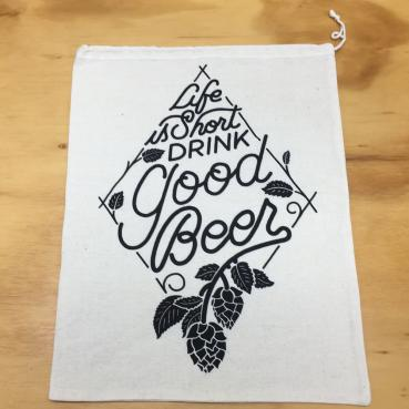 Life is Short Drink Good Beer Gift Bag
