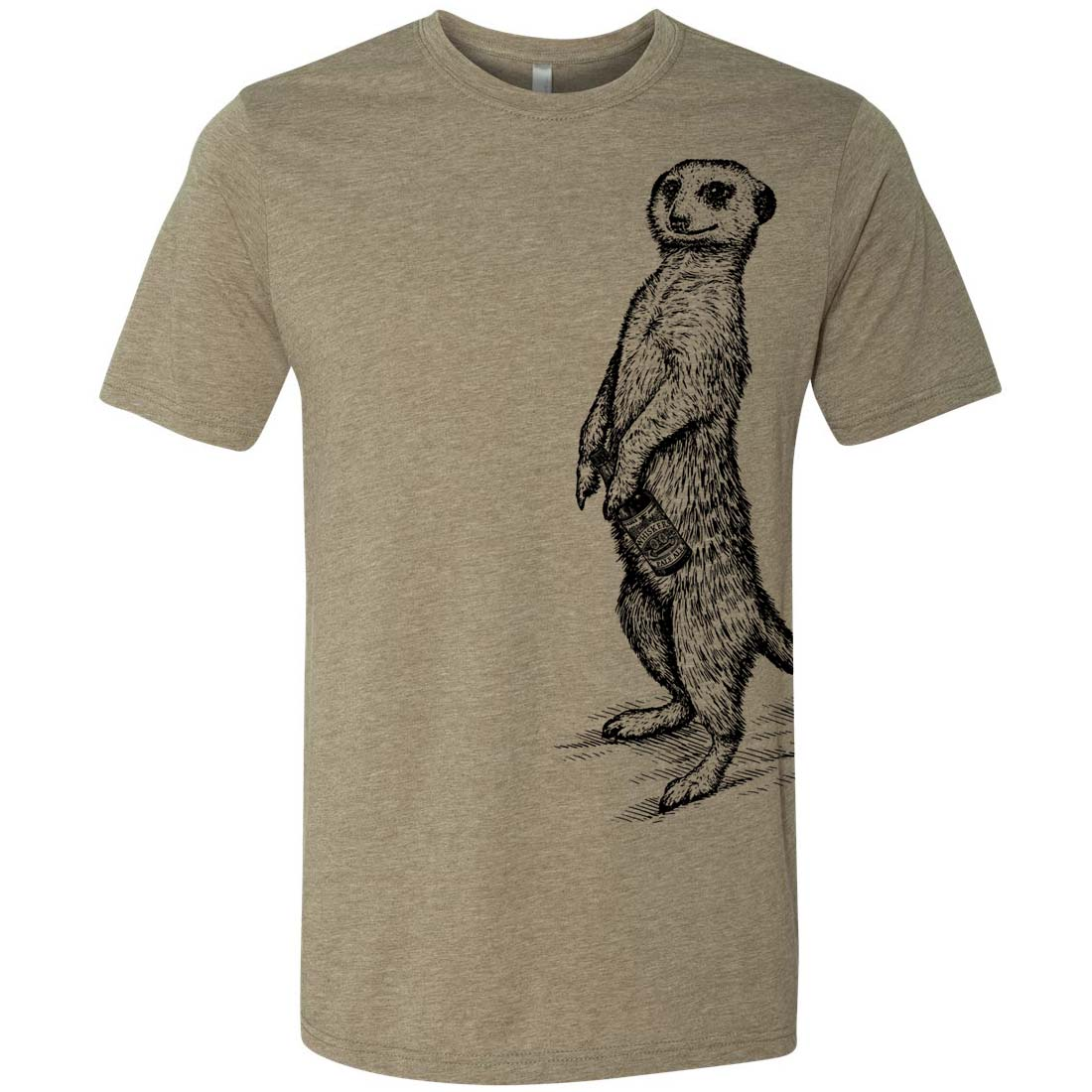 a264543f4 Beer Drinking Meerkat Craft Beer Spirit Animal Graphic T-Shirt