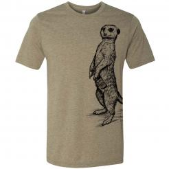 Beer Drinking Meerkat Craft Beer Spirit Animal Graphic T-Shirt