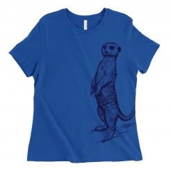 Beer Drinking Meerkat Women's Graphic Tee Funny Beer Shirt