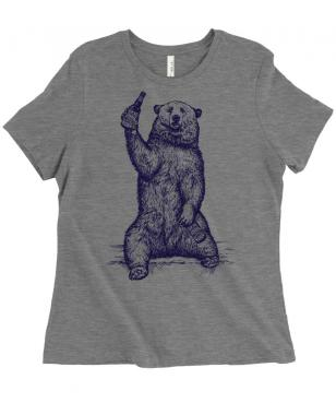 Craft beer is my spirit animal - beer drinking grizzly bear t-shirt