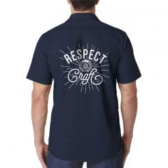 Respect Craft Beer Brewery Brewer Work Shirt