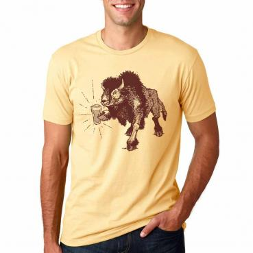 Beer Drinking Bison - Colorado Buffaloes Tailgate Gear - Craft Beer Shirt
