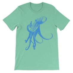 Beer Drinking Octopus Seafoam Graphic Tee