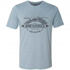 Breweries are Calling - Mountains - Stonewashed Denim Blue Graphic Tee