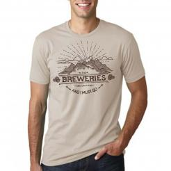 Breweries are Calling - Mountains - Tan Graphic Tee