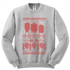 Ugly Christmas Sweater - Fleece Sweatshirt - Red Ink Athletic Heather