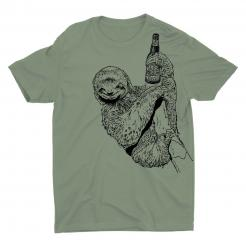Beer Drinking Sloth Tee