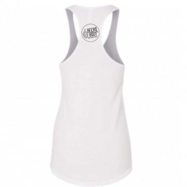 Beer and Body White Racerback Womens Tank