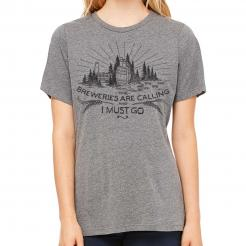 The Breweries are Calling and I Must Go - Barrel Graphic Womens Crew T-Shirt