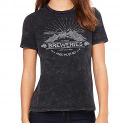 The Breweries are Calling and I Must Go - Mountains Graphic Womens Crew T-Shirt