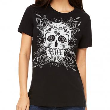Craft Beer Sugar Skull Women's Graphic Tee