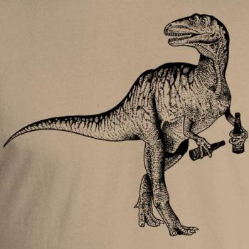 Beer Drinking Dinosaur T-Shirt