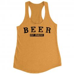 Beer Est. 3500BC French Terry Women's Racerback Tank