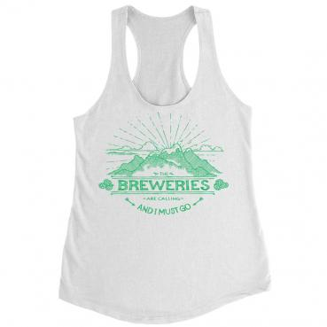 Breweries are Calling - Mountains - French Terry Women's Racerback Tank