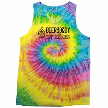 Beer and Body Logo Tie Dyed Unisex Tank