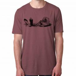 Beer Drinking Otter Unisex T-Shirt