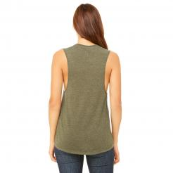 Back View - Women's Flowy Scoop Muscle Tank