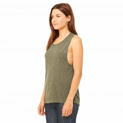 Side View -  Women's Flowy Scoop Muscle Tank