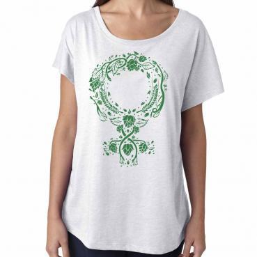 Botanical Venus Symbol Womens Dolman Tee