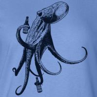 Beer Drinking Octopus Womens Tee