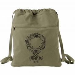 Botanical Venus Symbol Canvas Backpack