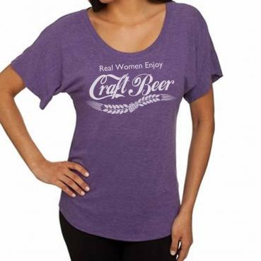 Real Women Enjoy Craft Beer Womens Dolman Tee