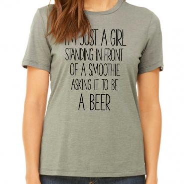 Smoothie Beer Wish Womens Graphic T-Shirt