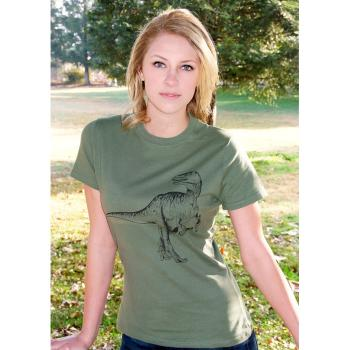 Beer Drinking Dinosaur Women's Tee