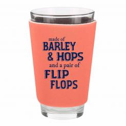 Barley Hops and Flip Flops Foam Pint Glass Cozy