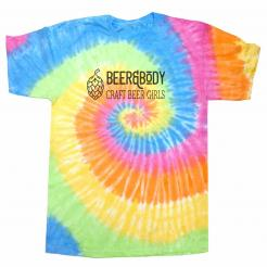 Beer and Body Logo Tie Dye Unisex Tee