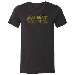 Beer & Body Logo Triblend Unisex V-Neck Tee
